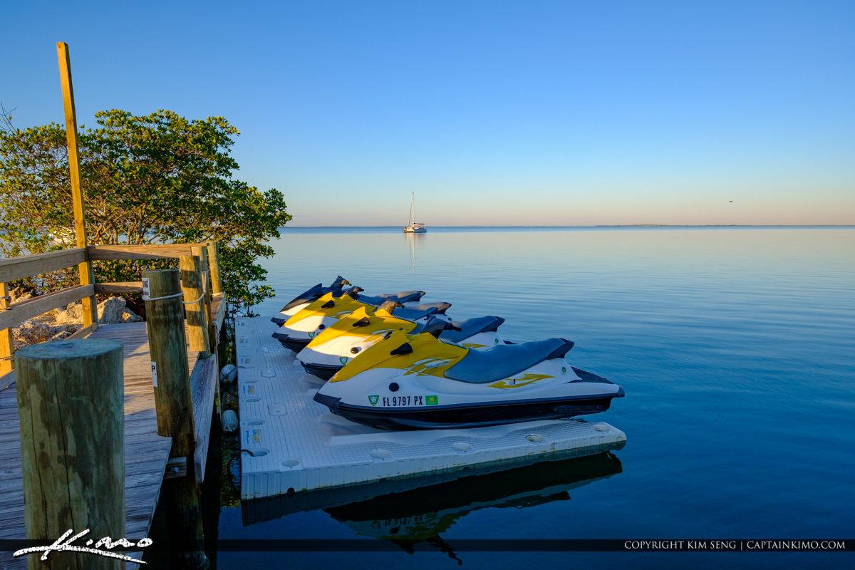 Jet Ski at Dock Gilberts Resort Key Largo Florida Keys