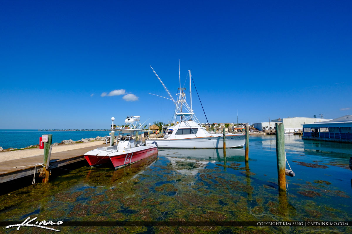 Fishing Boats at the Dock Keys Fisheries Marathon Florida Keys