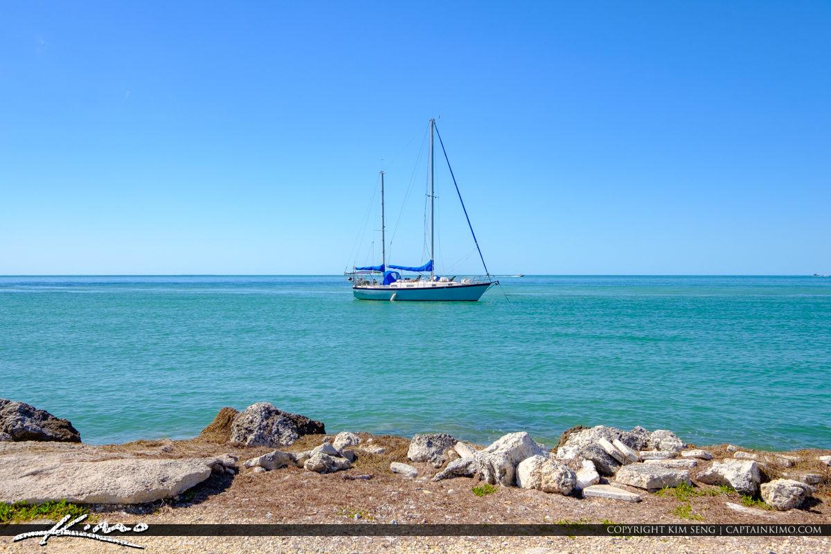 Sailboats at Bay Keys Fisheries Marathon Florida Keys