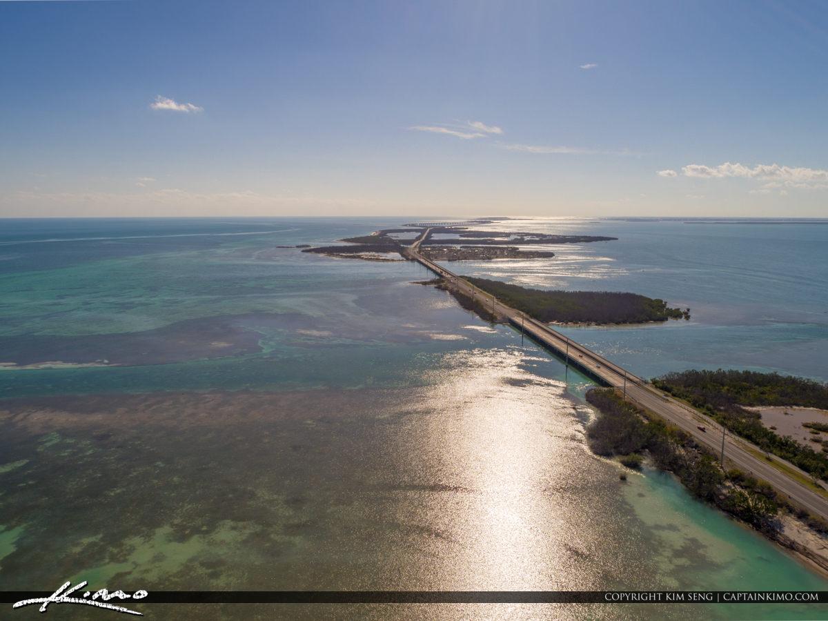 Bahia Honda Aerial View Veterans Memorial Park Big Pine Key Seve