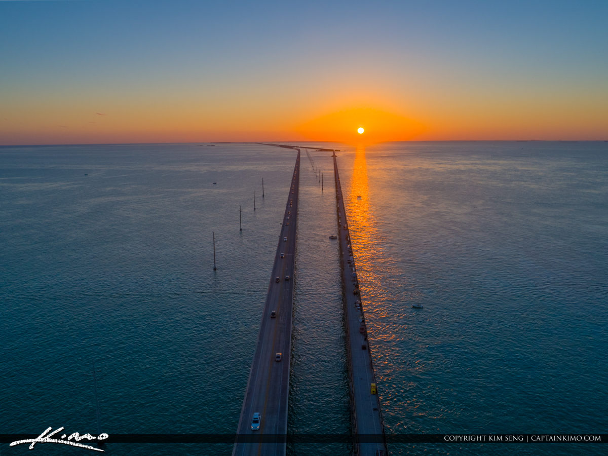 Sunset Seven Mile Bridge Marathon Florida Keys
