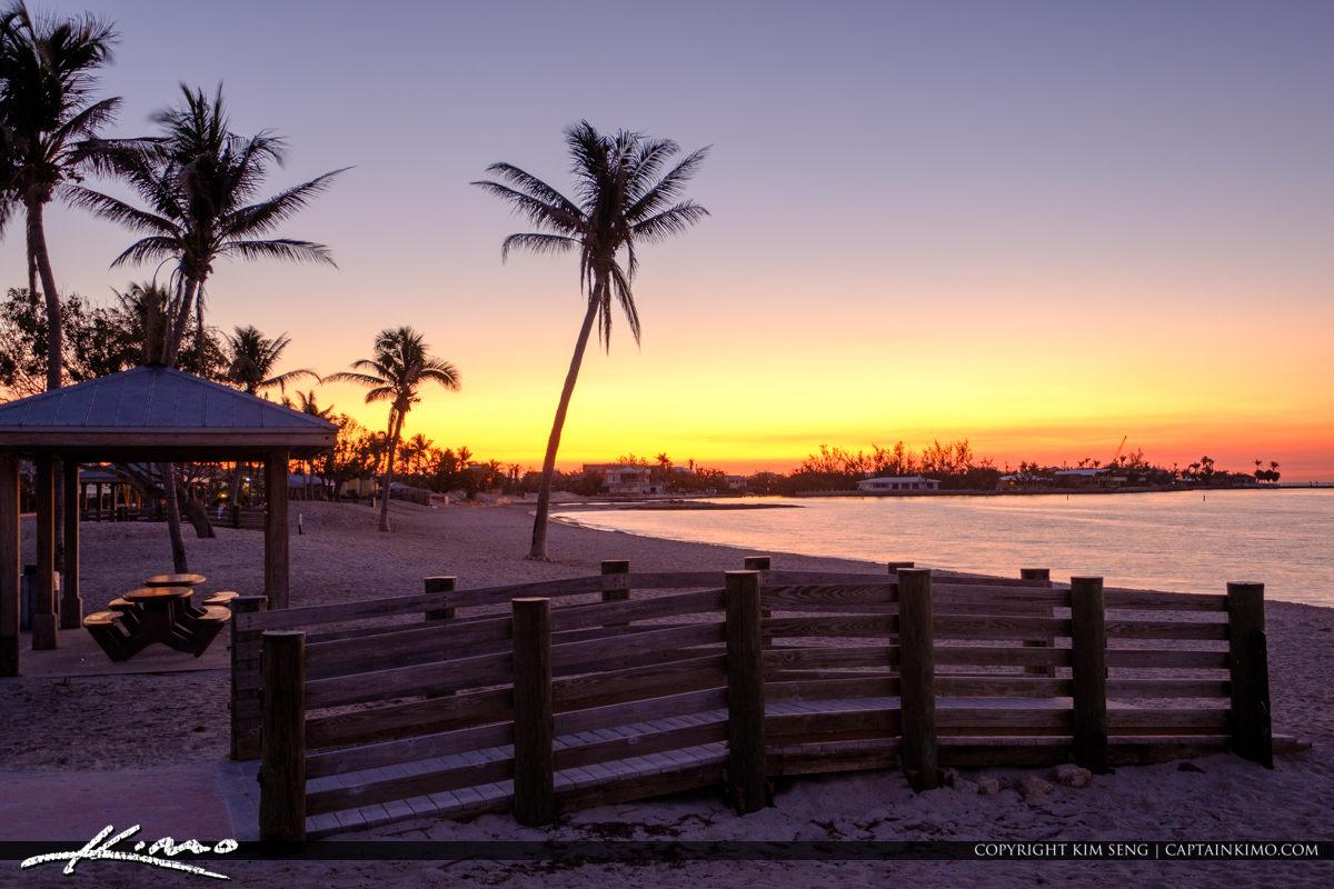 Boardwalk at Beach Sunrise Sombrero Beach Marathon Florida Keys