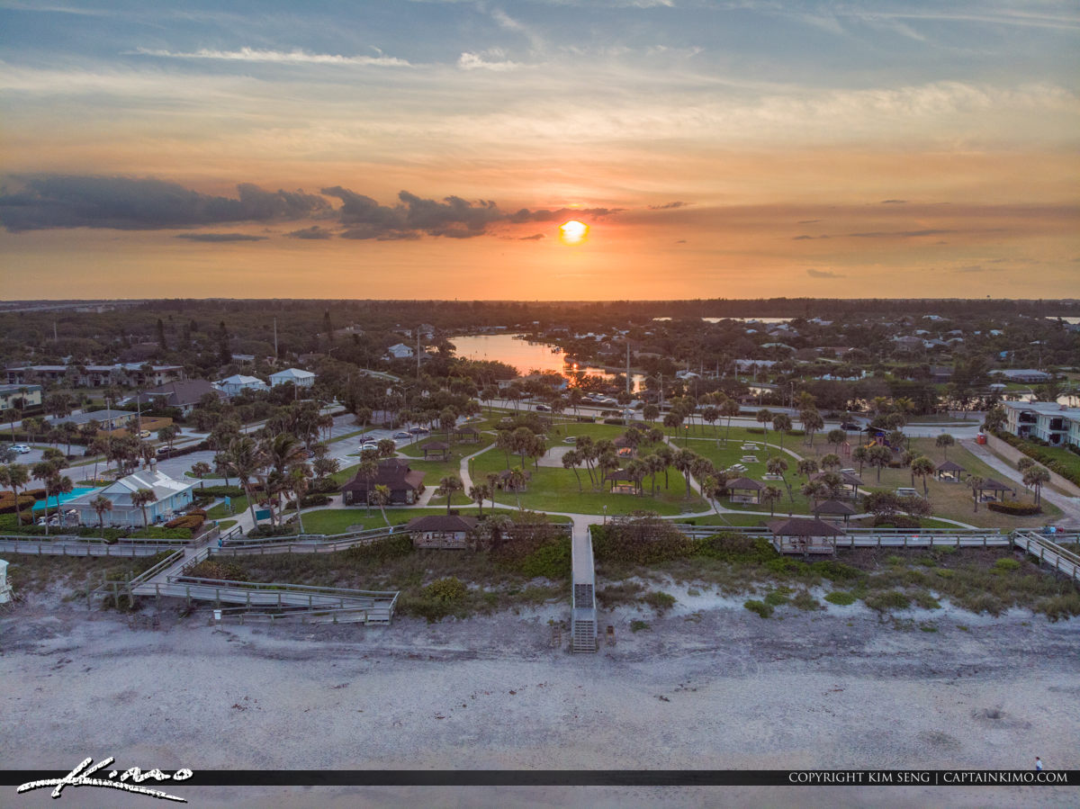 Stairs Aerial Sunset Jaycee Park Vero Beach Florida