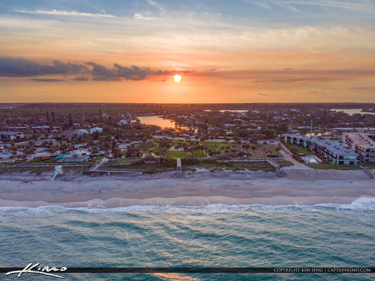 Beach Park Aerial Sunset Jaycee Park Vero Beach Florida