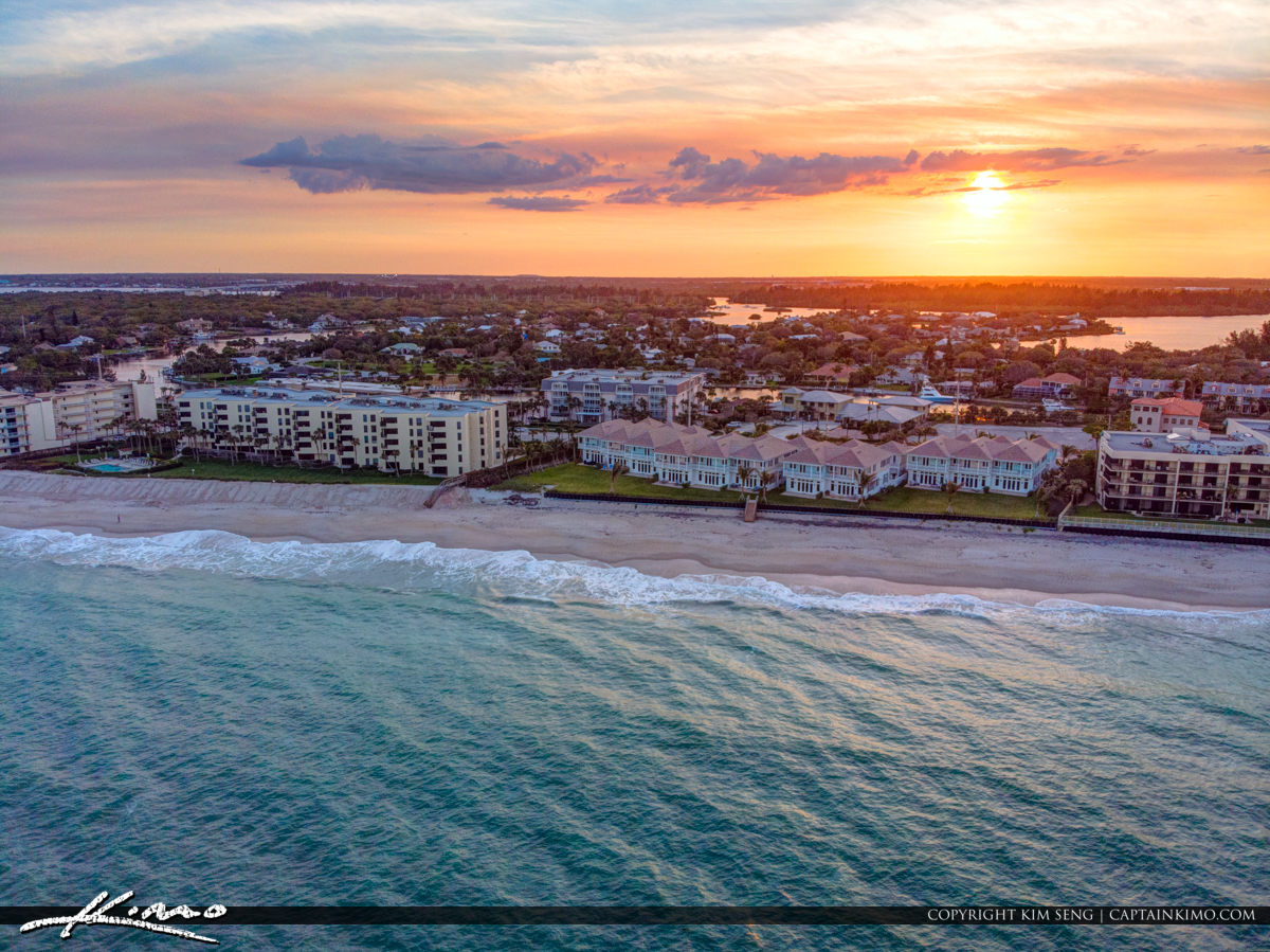 Condos Oceanfront Waterfront Property Vero Beach Florida Sunset