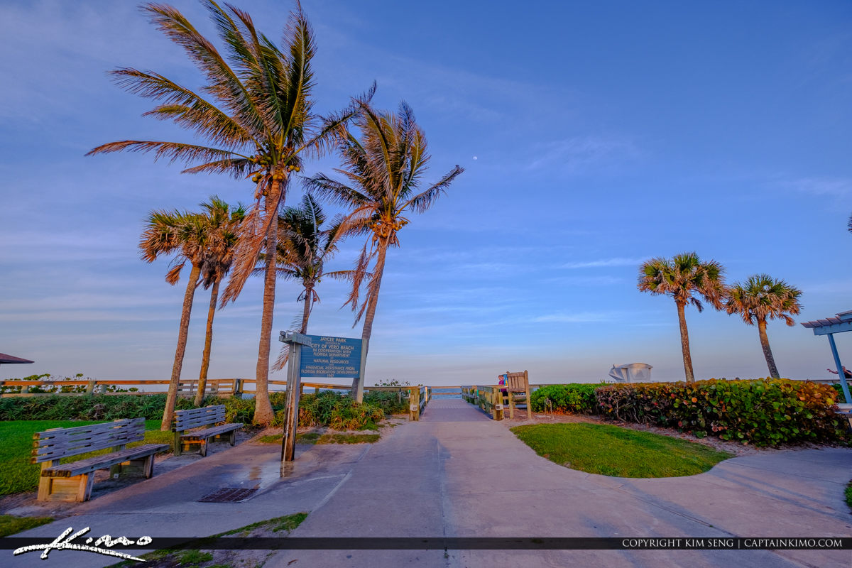 Entrance Jaycee Park Sunset Vero Beach Florida