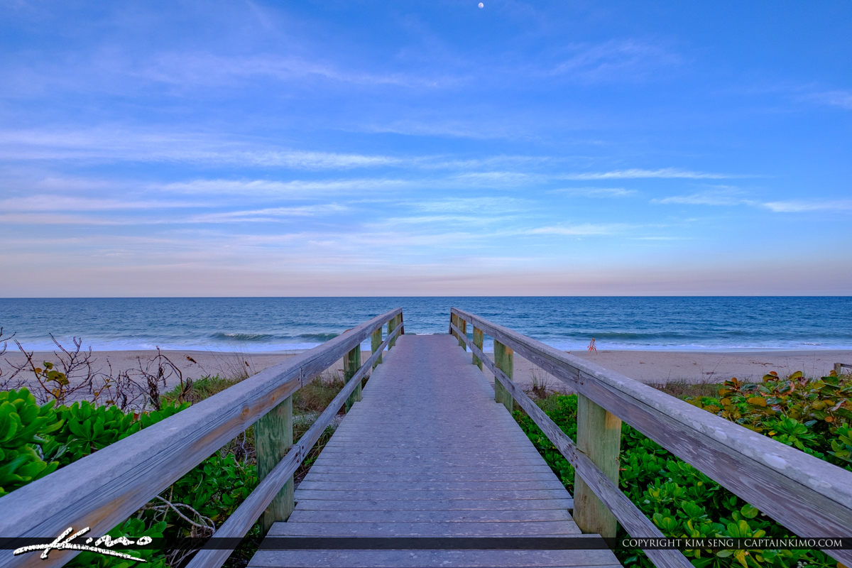 Beach Boardwalk Jaycee Park Sunset Vero Beach Florida