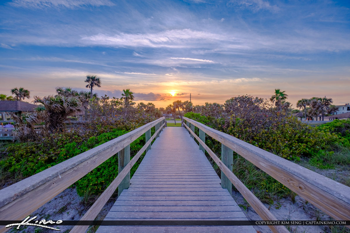 Boardwalk Sunset Jaycee Park Sunset Vero Beach Florida