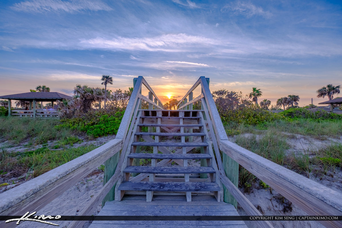 Stair Sunset Jaycee Park Sunset Vero Beach Florida