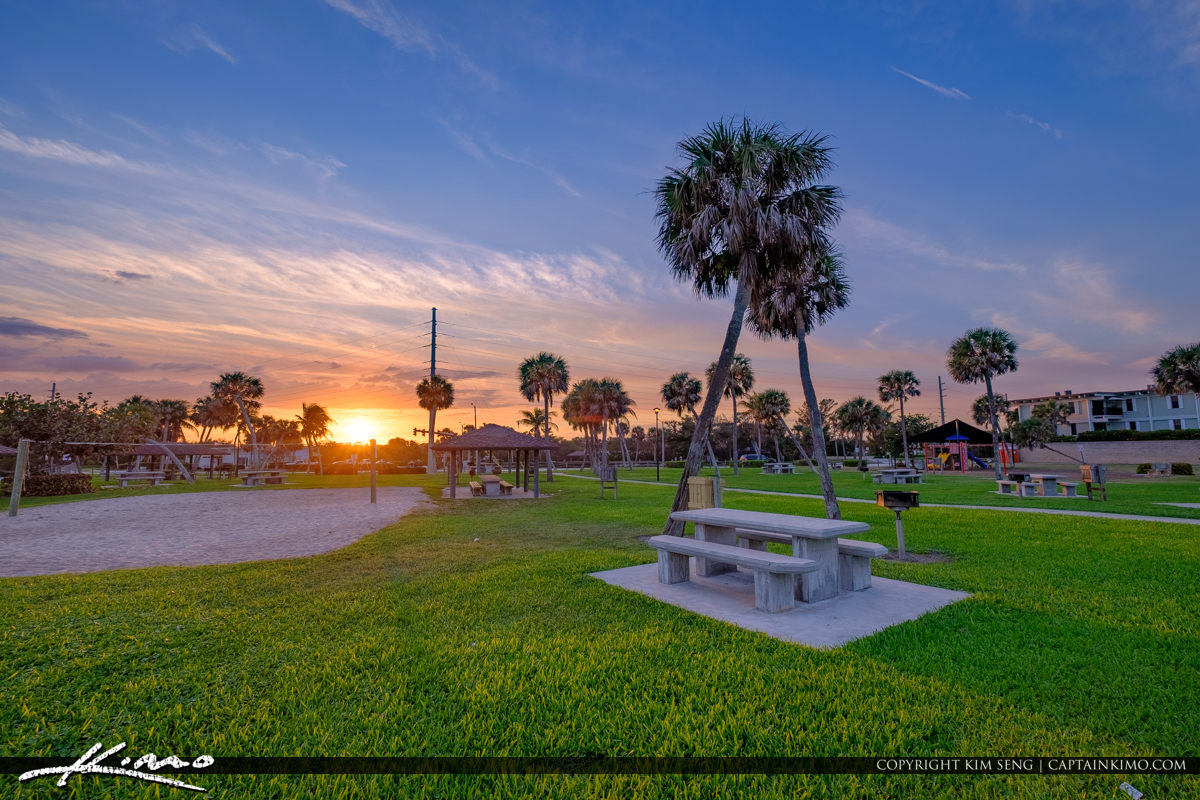 Picnic Table Jaycee Park Sunset Vero Beach Florida
