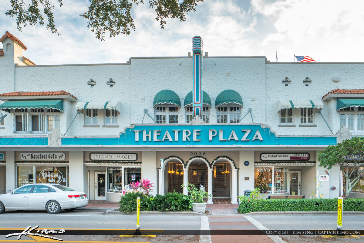 Theatre Plaza Historic Downtown Vero Beach Florida