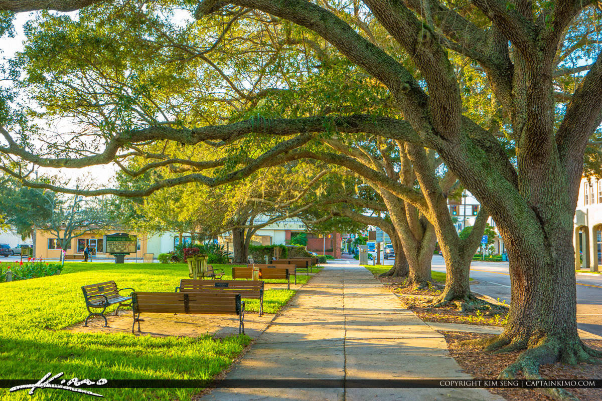 Pocahontas Park Historic Downtown Vero Beach Florida Sunlight Oa