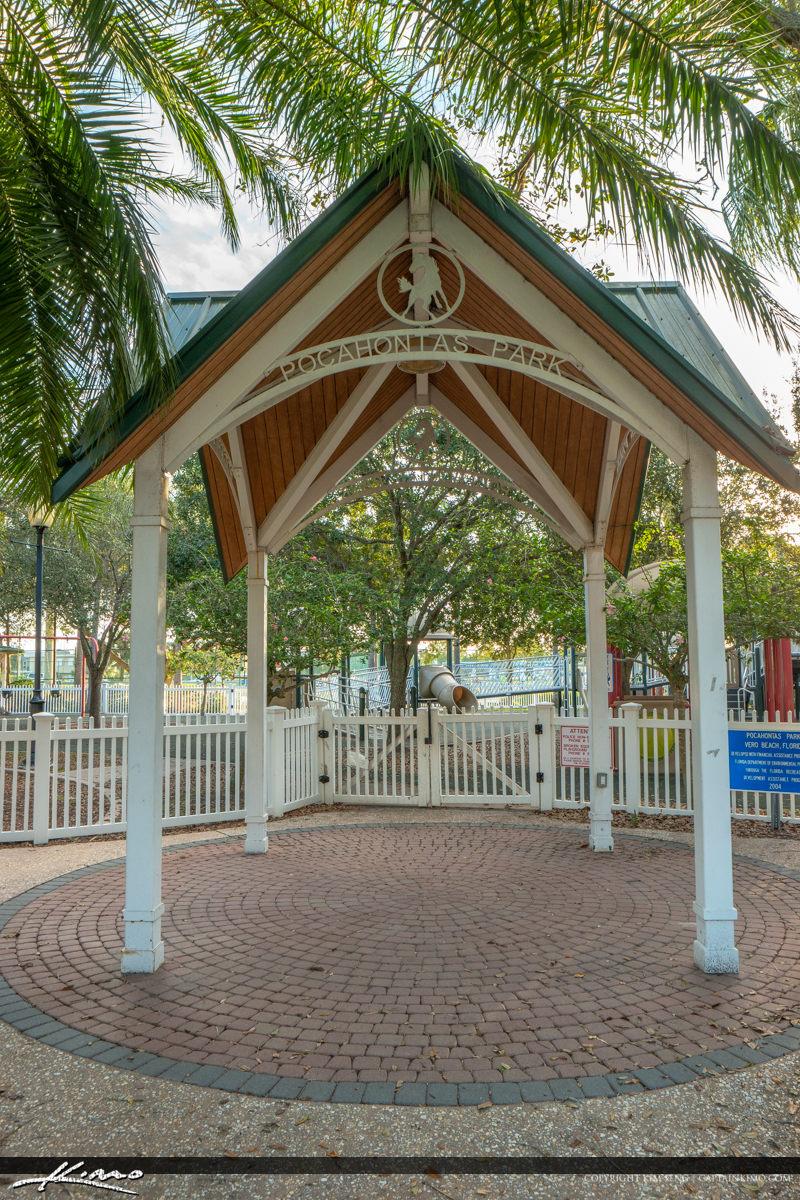Pocahontas Park Historic Downtown Vero Beach Florida Gazebo