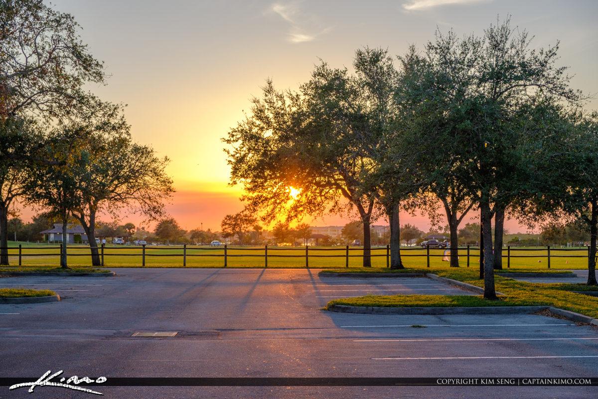 Parking Lot Riverside Park Vero Beach Florida