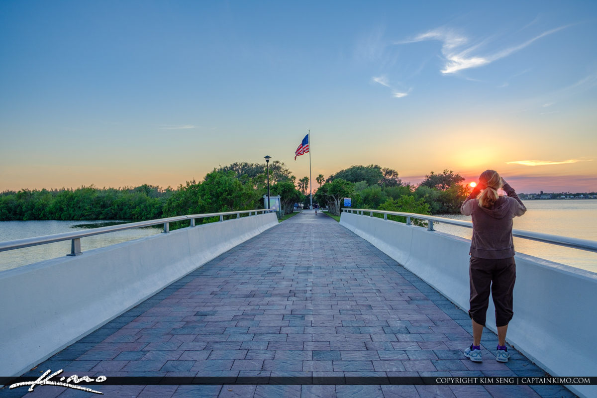 Veterans Memorial Park Vero Beach Florida Sunset