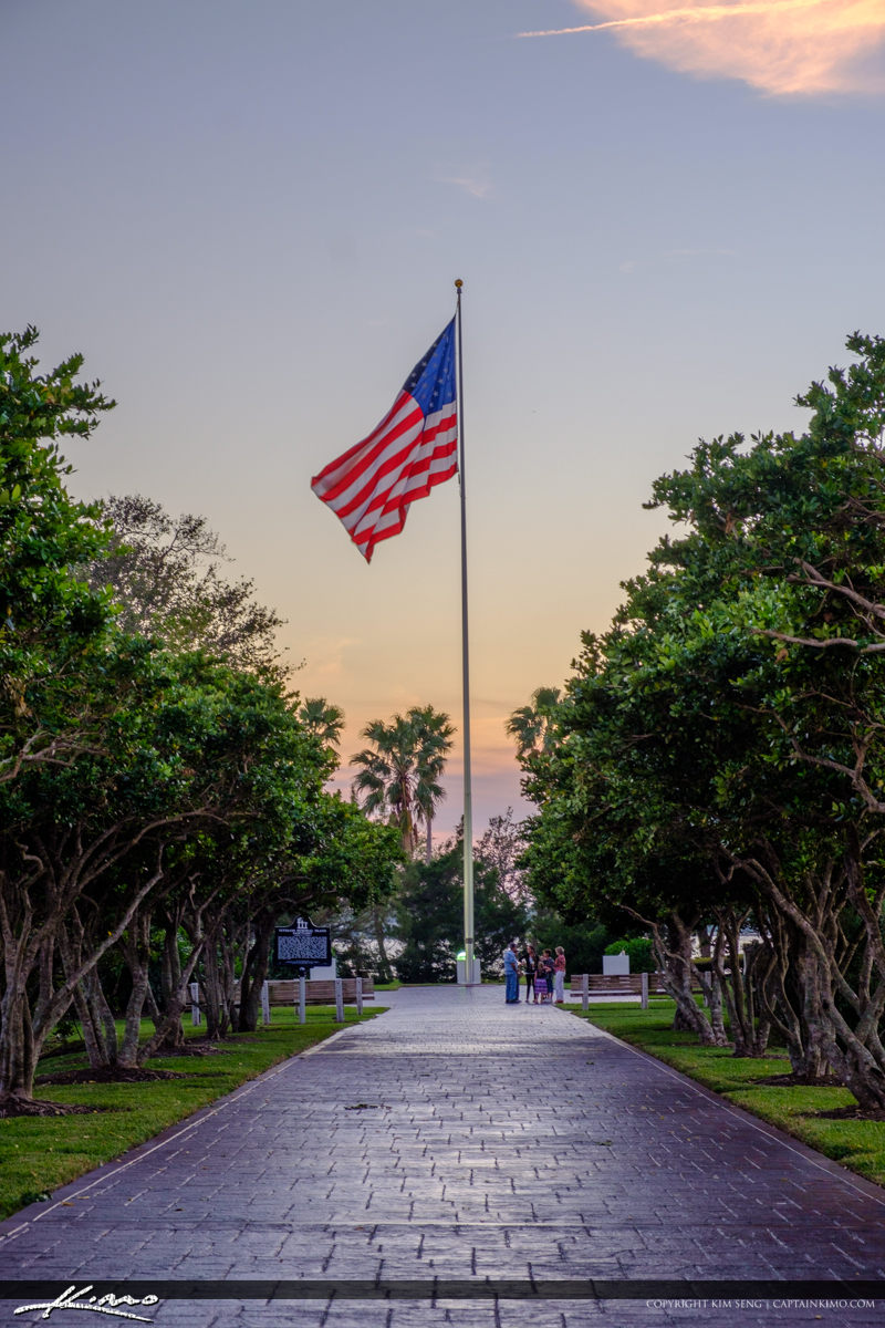 Veterans Memorial Park Vero Beach Florida America Flag