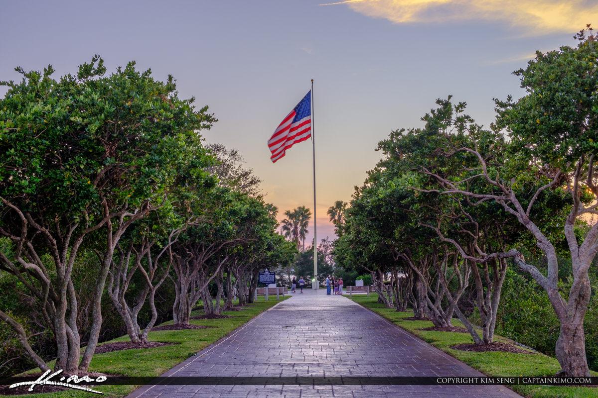 Veterans Memorial Park Vero Beach Florida American Flag Tree
