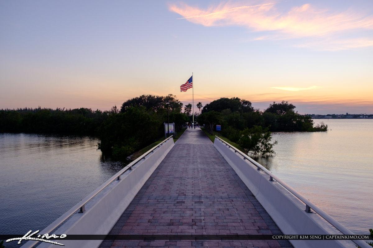 Veterans Memorial Park Vero Beach Florida Bridge America Flag