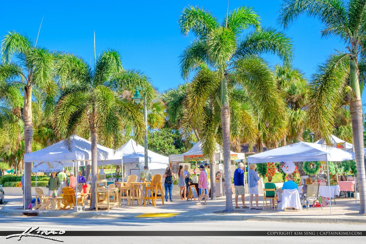 Green Market Vero Beach Florida Royal Palm Sidewalk