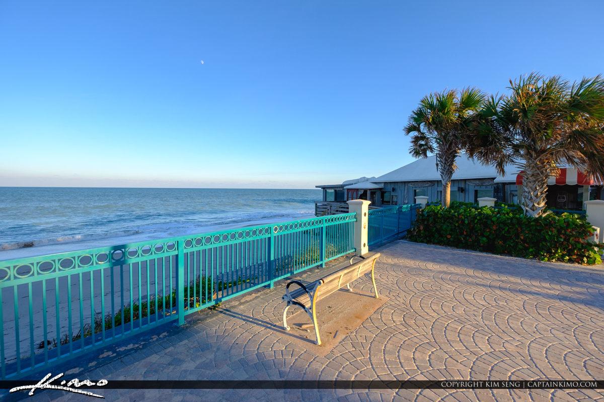 Sexton Plaza Beach Vero Beach Florida Bench at Beach
