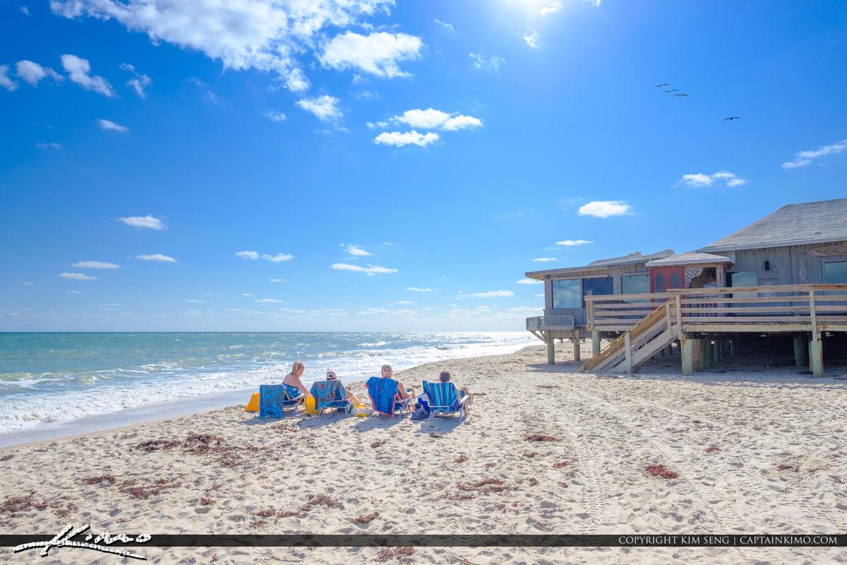 Sexton Plaza Beach Vero Beach Florida Sunbathing