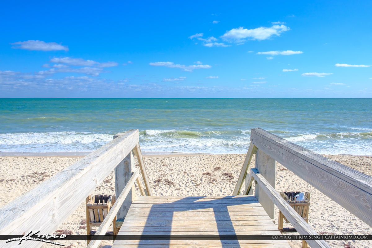 Blue Sky Jaycee Park Vero Beach Florida Star at Beach