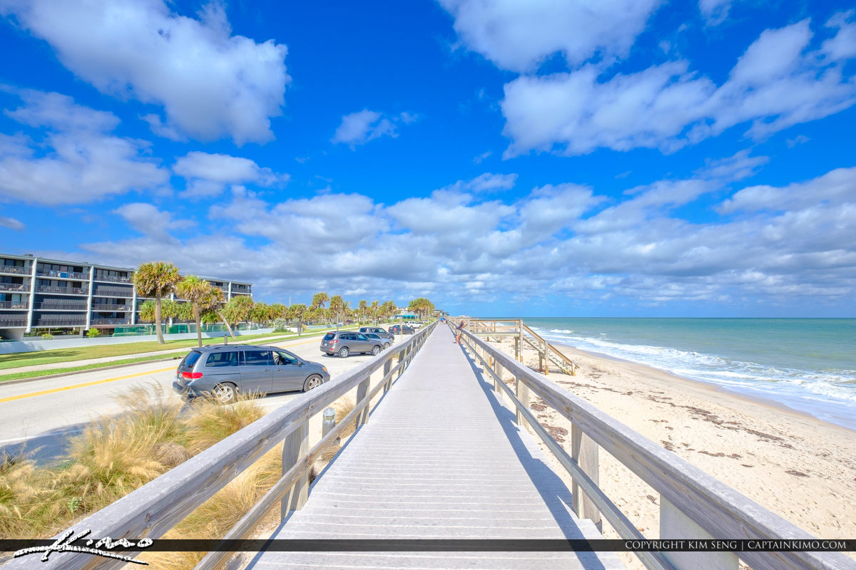 Blue Sky Jaycee Park Vero Beach Florida Boardwalk at Beach