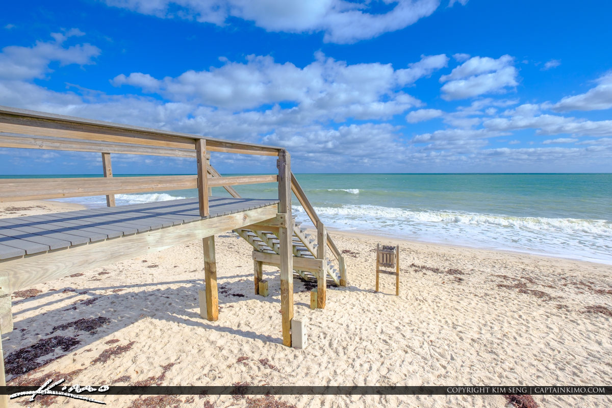 Blue Sky Jaycee Park Vero Beach Florida STair to Beach