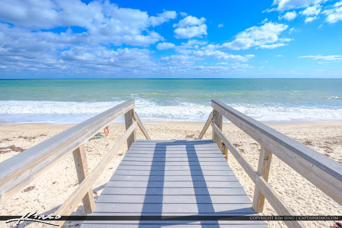 Blue Sky Jaycee Park Vero Beach Florida Stair Blue Day