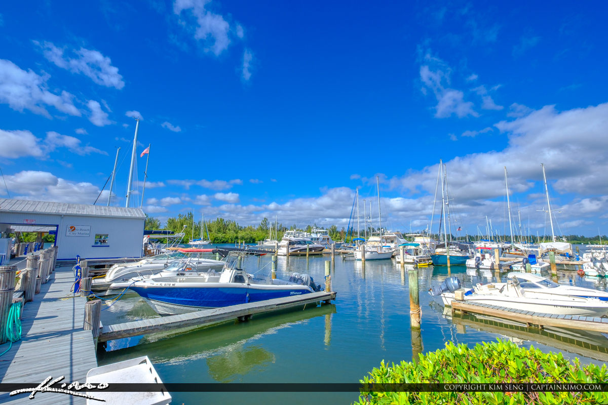 Perfect Blue Day Vero Beach City Marina Vero Beach Florida