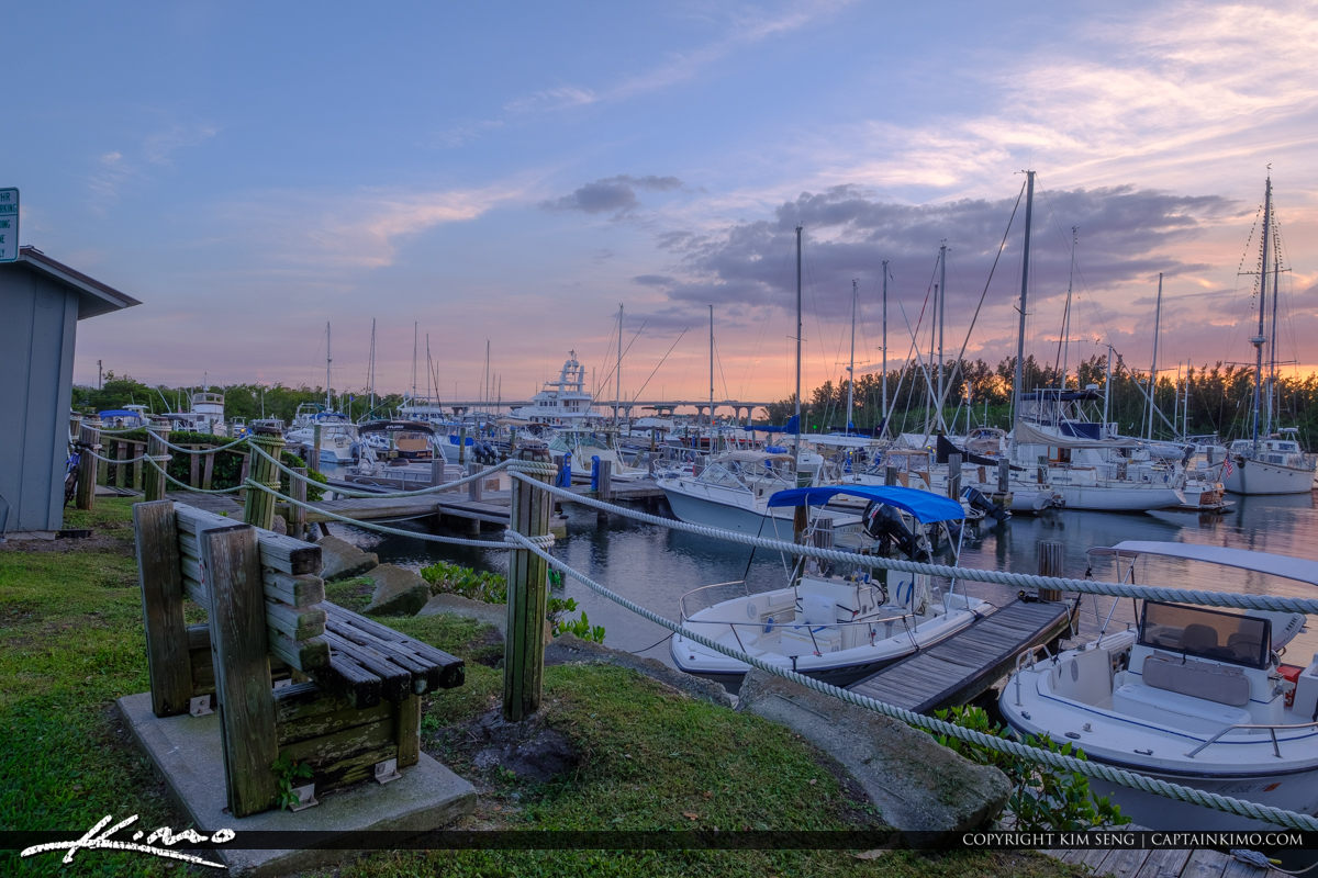 Sunset at the Docks Vero Beach City Marina Vero Beach Florida