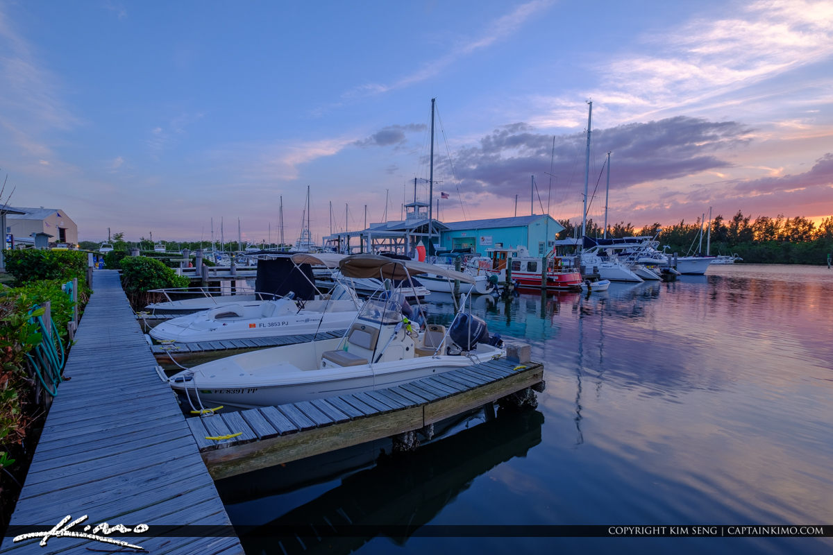 Boats at Sunset Vero Beach City Marina Vero Beach Florida