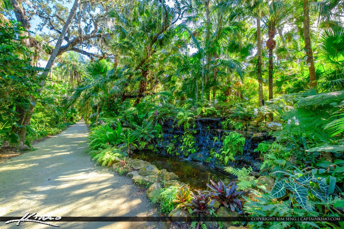 Waterfall McKee Botanical Garden Vero Beach Florida
