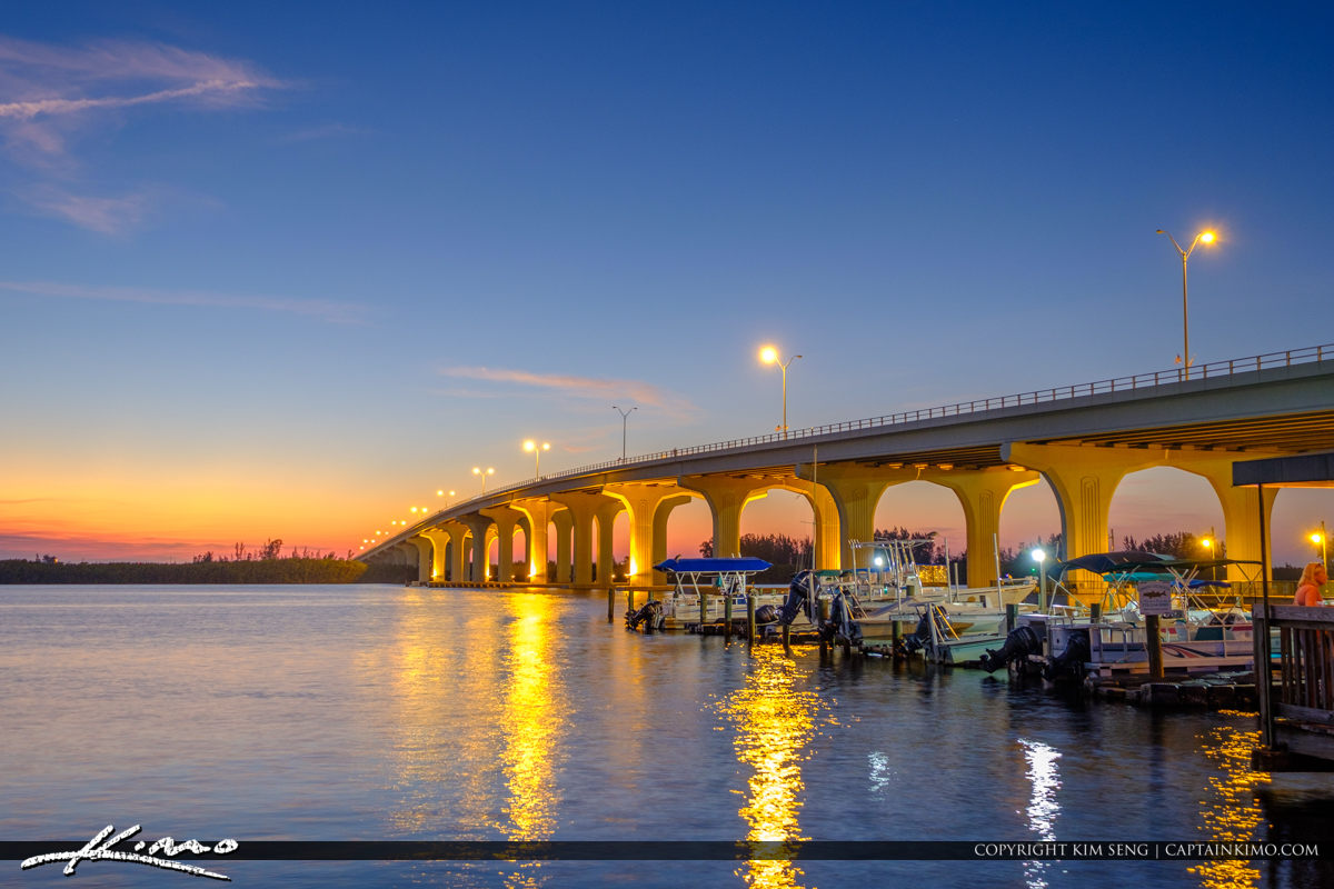 Indian River Merril P Barber Bridge Vero Beach Florida