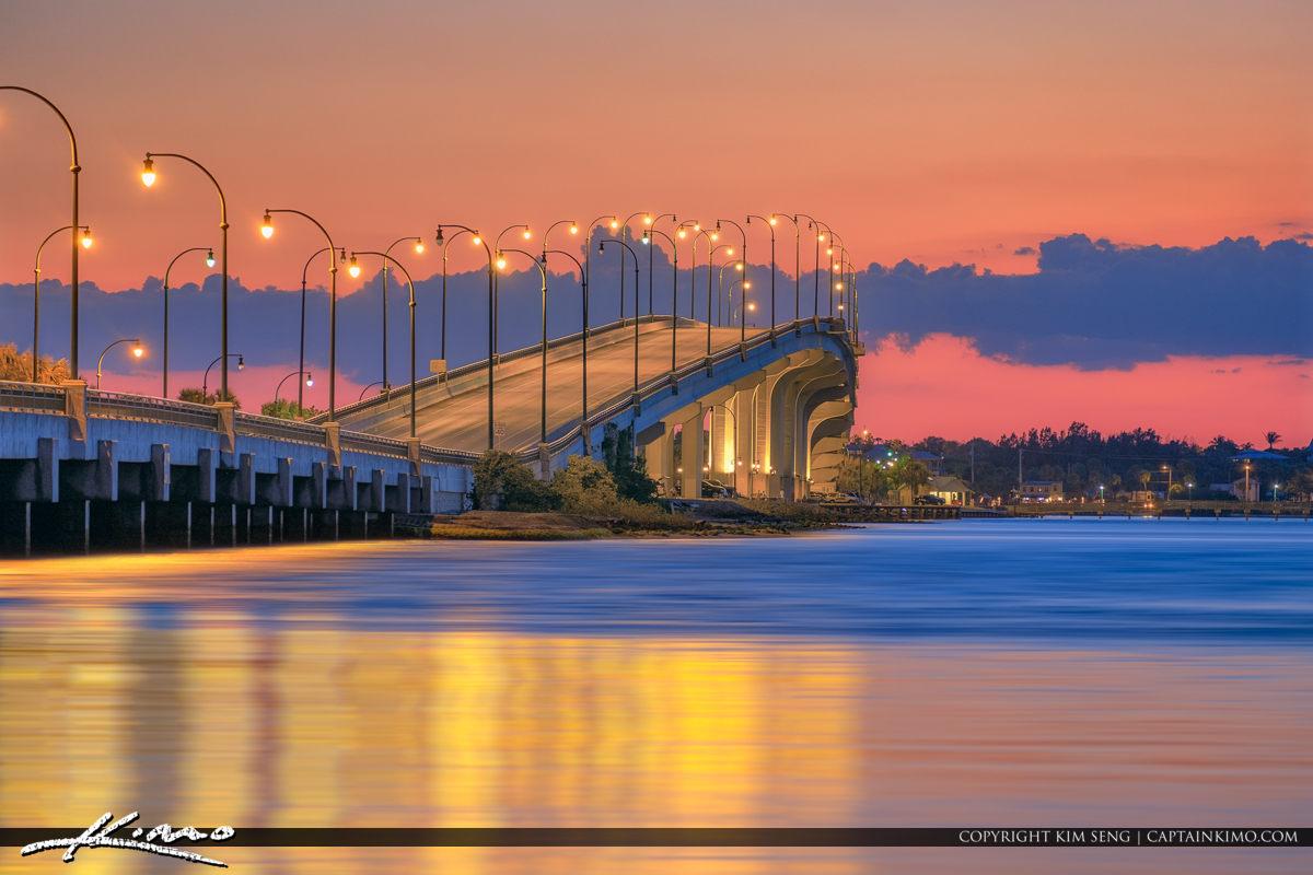 Jensen Beach Causeway After the Sunset Martin County