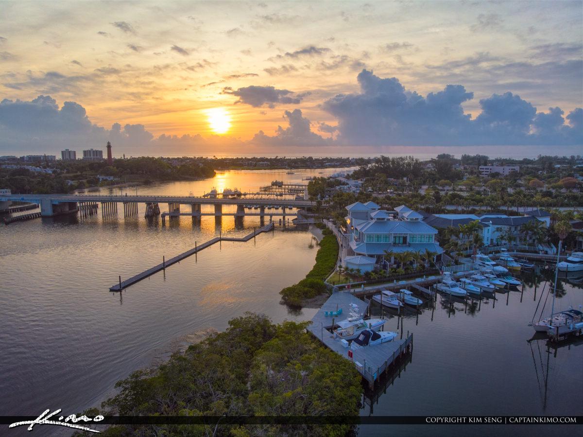 Jupiter Florida Aerial Waterway Marina 1000 North