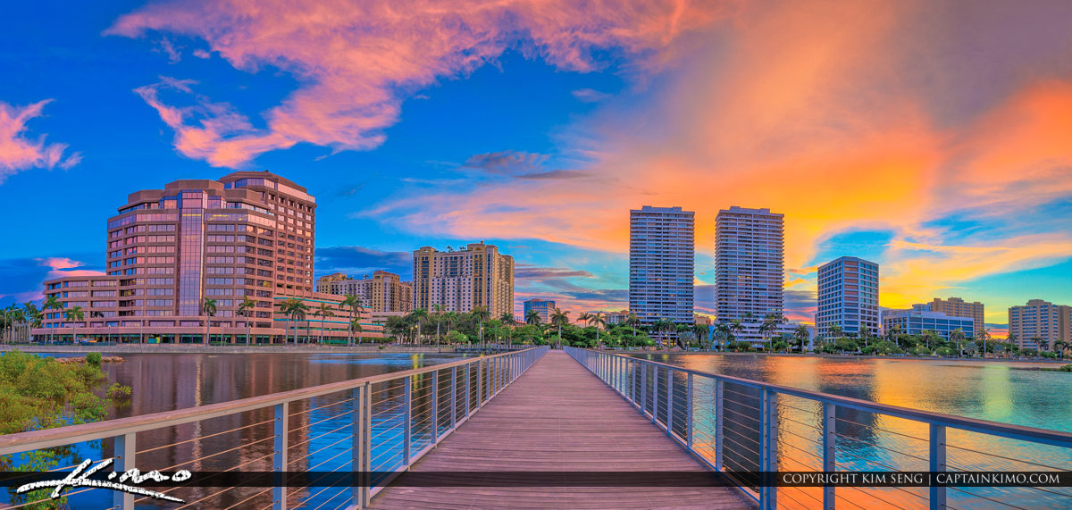 West Palm Beach Sunset South Cove Natural Area