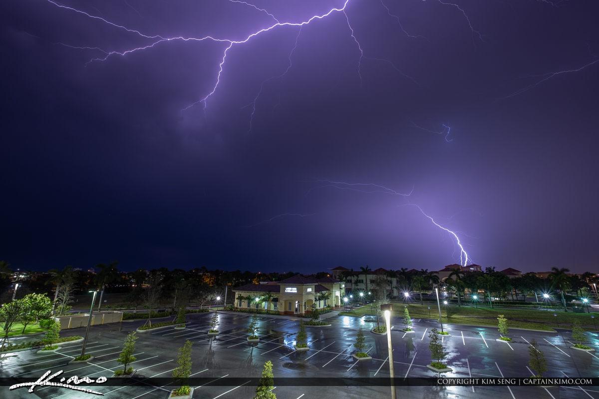 Lightning Over Florida Palm Beach Gardens