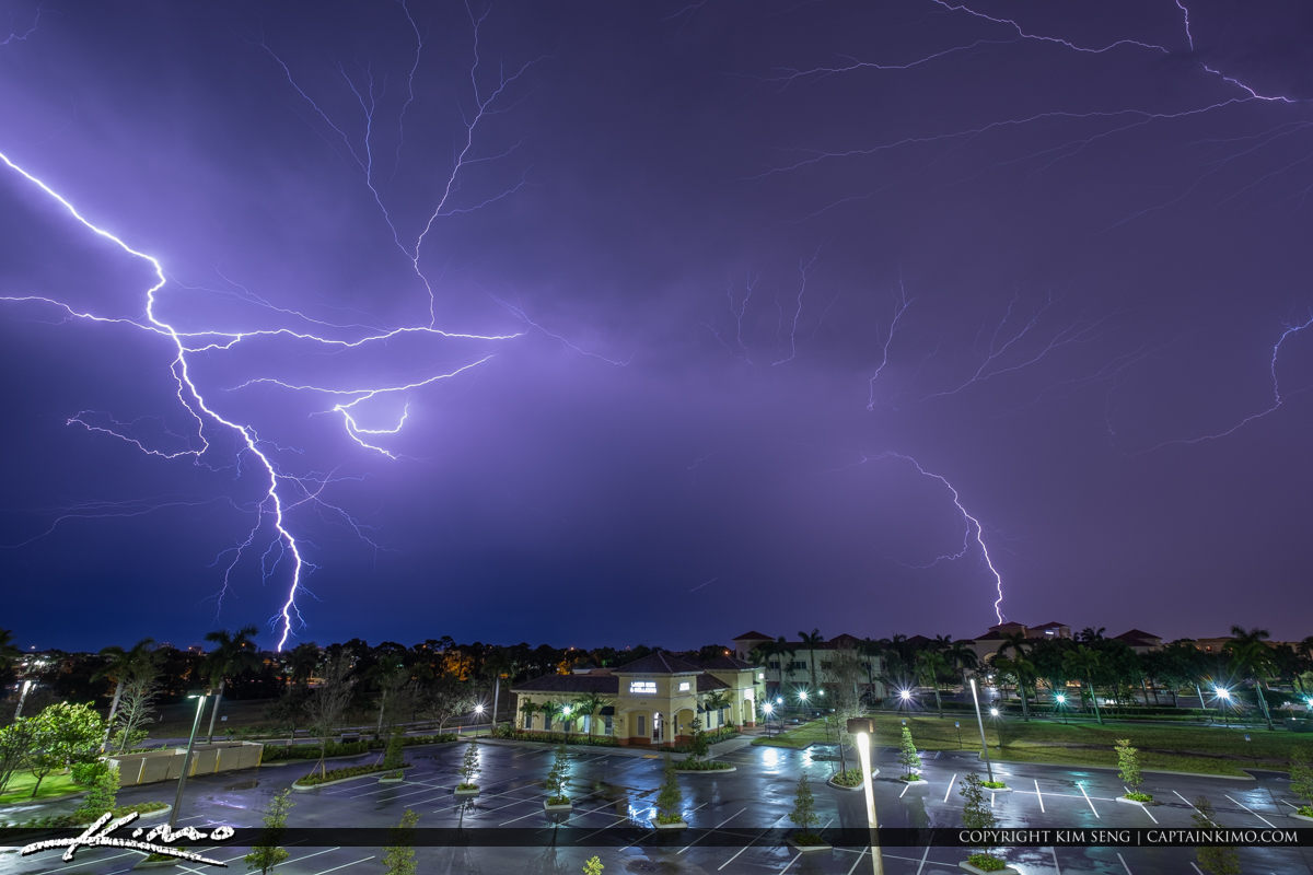 Palm Beach Gardens Lightning Storm