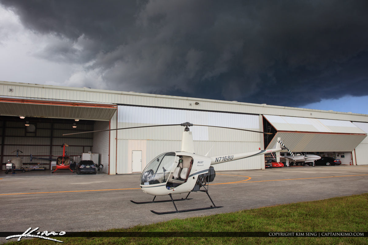North Palm Beach County Airport at Helicopter Hanger