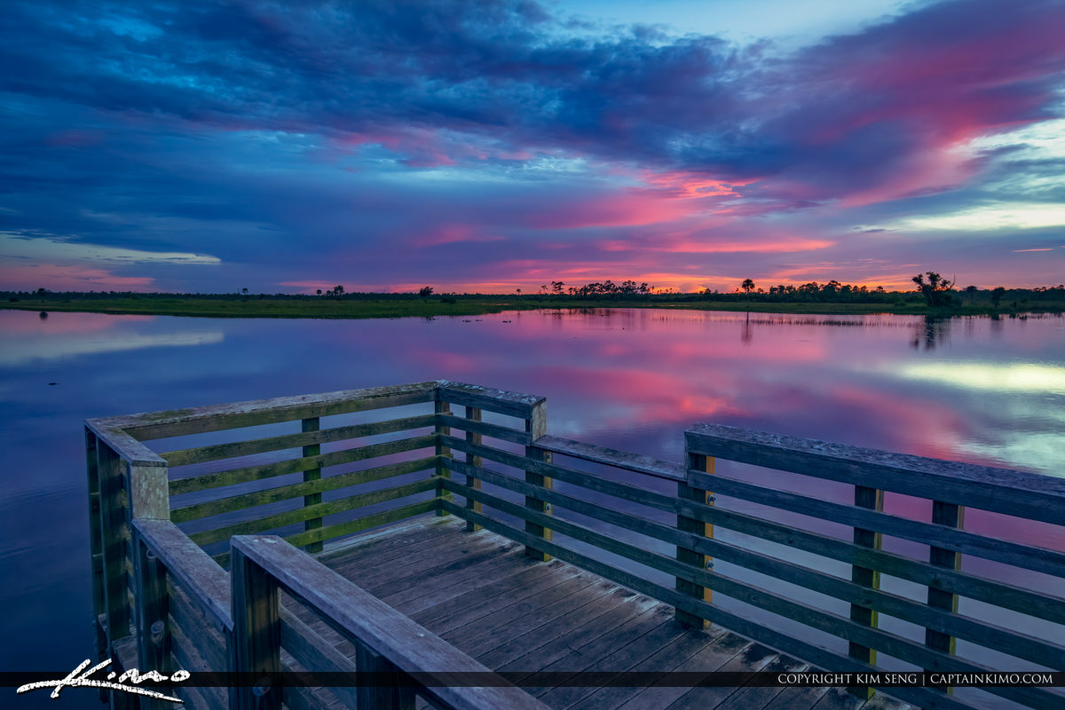 Last Nights Sunset from Pine Glades Natural Area