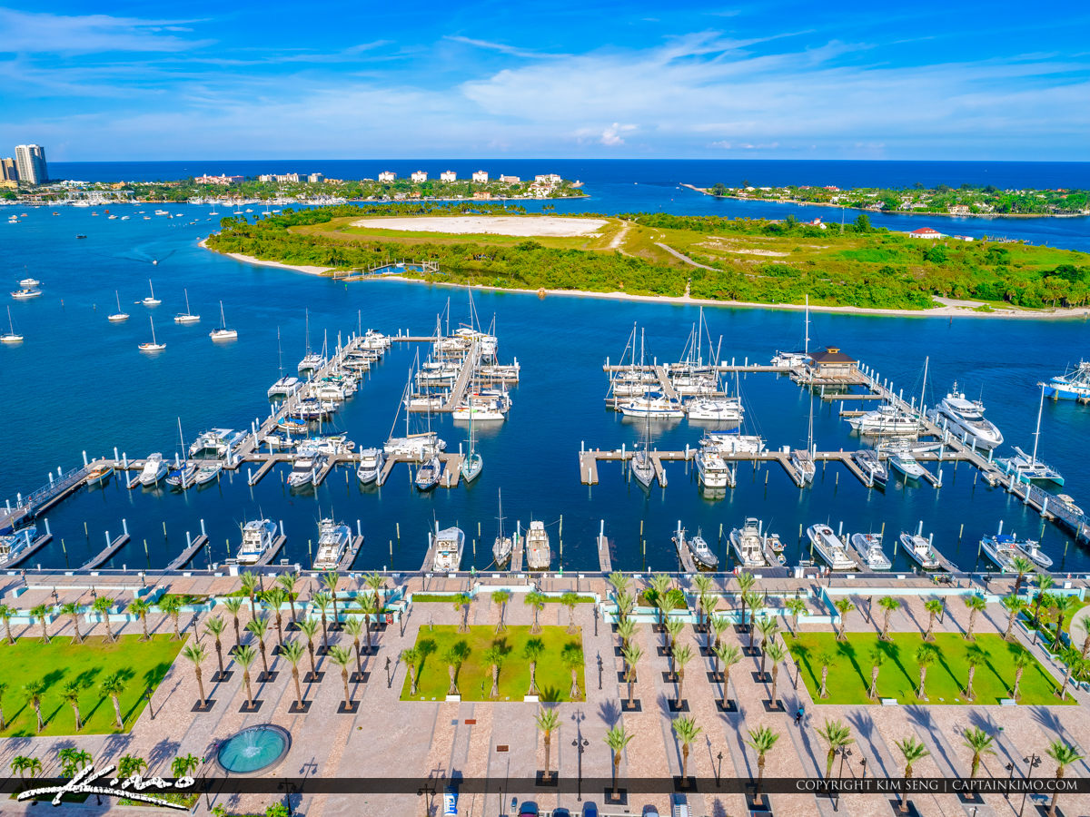 Boats at Dock Rivier Beach Marina Palm Beach Island