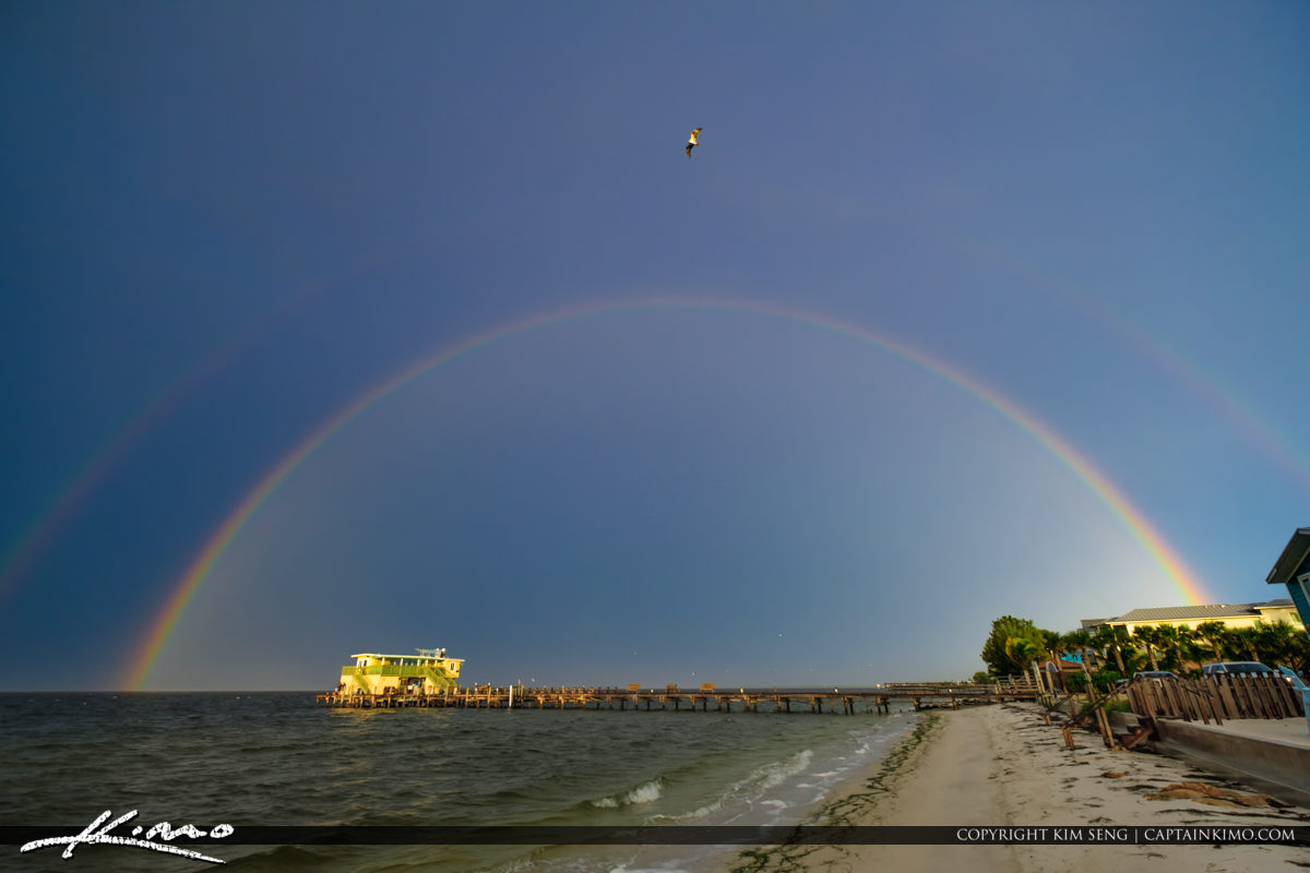 Rod and Reel Pier Anna Maria Florida Rainbow