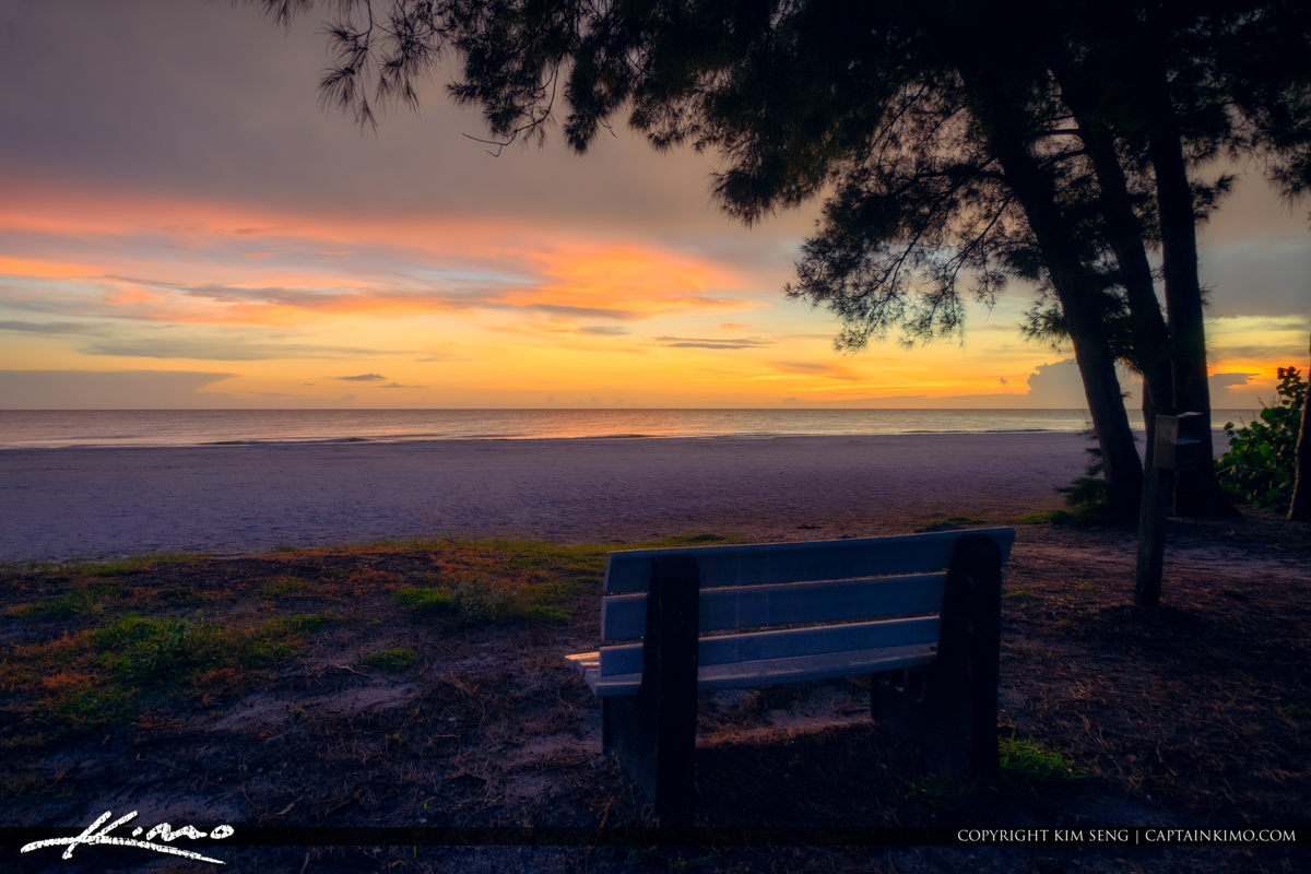 Watching the Sunset at Anna Maria Island Florida Beach