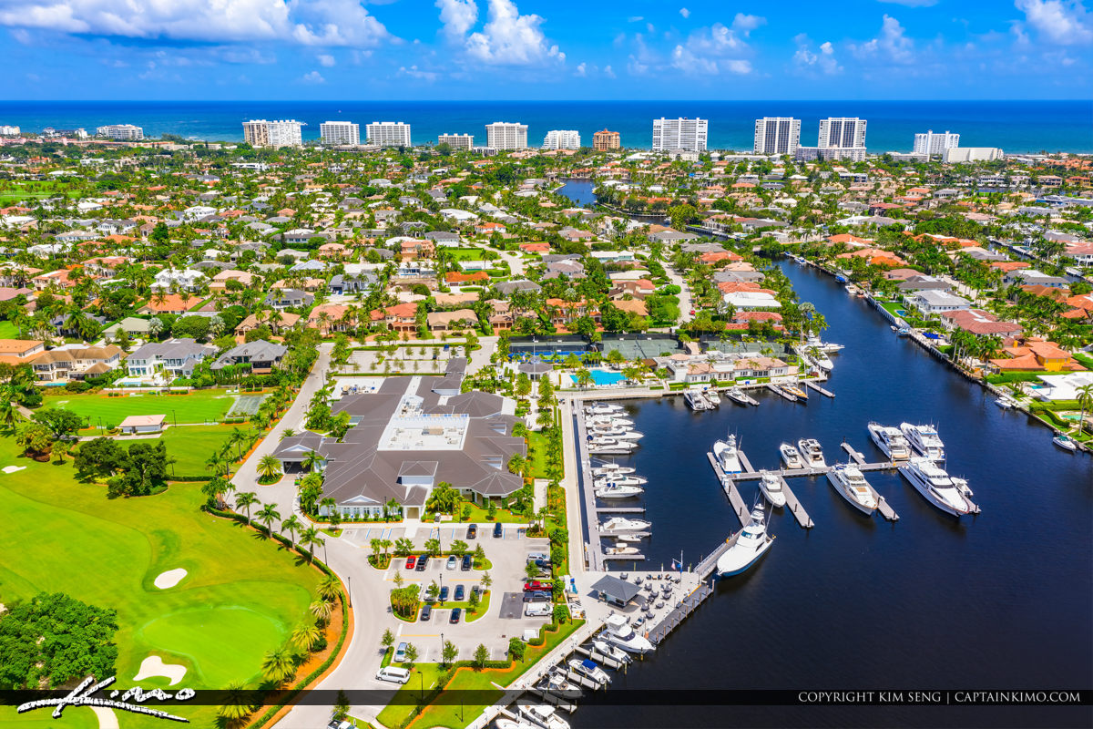 Royal Palm Yacht and Country Club Golf Course Boca Raton Florida Waterway Homes