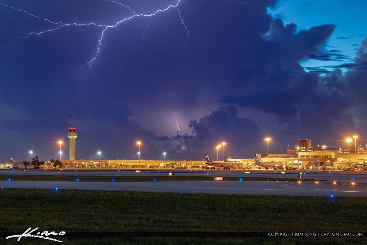 Palm Beach International Airport Lightning Storm