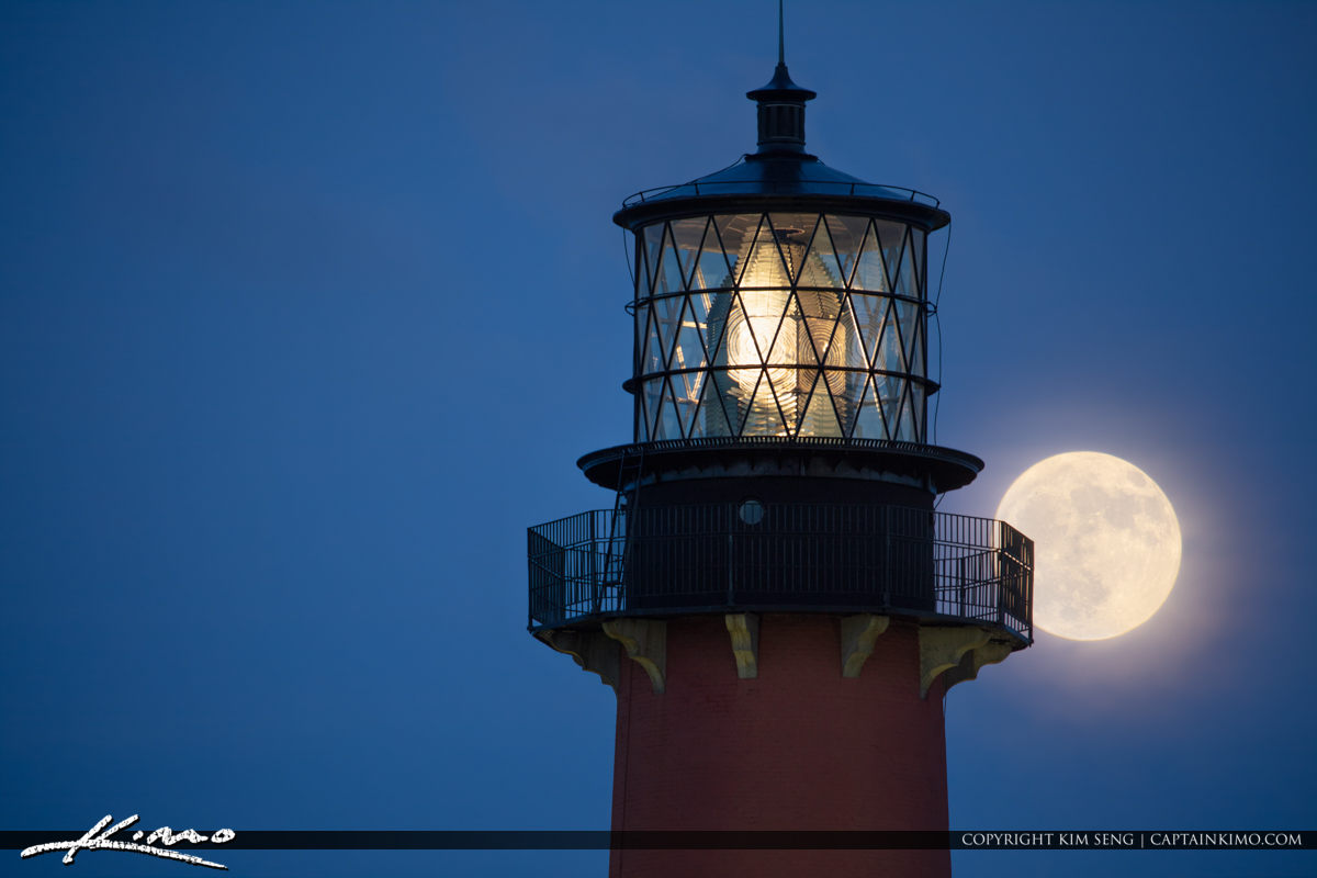 Jupiter Lighthouse Moonrise