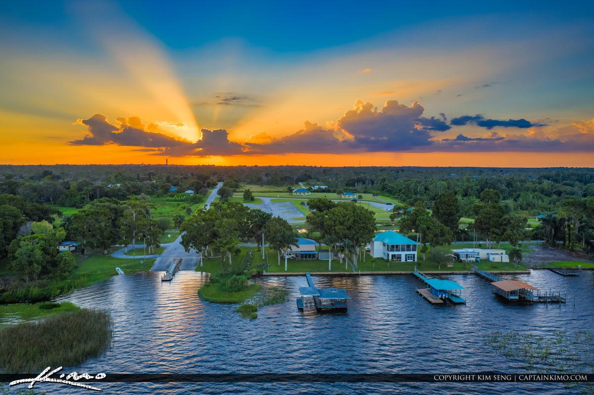 Windy Point Boat Ramp Lake Placid Florida Sunset