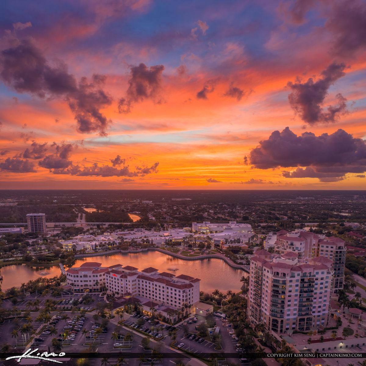 Palm Beach Gardens Sunset Over Hilton Landmark Real Estate Prope