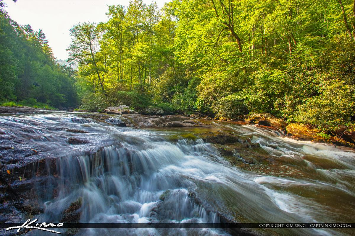 Cullasaja River Highlands North Carolina Blue Ridge Parkway Rapi